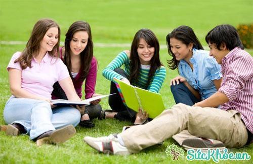 Học nhóm cùng bạn bè