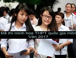 Đề thi minh họa THPT Quốc gia môn Ngữ Văn