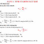 Công thức tính tỉ khối của chất khí kèm bài tập, lời giải chi tiết