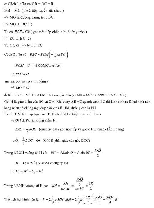 Đề thi đáp án vào 10 môn toán Bình Thuận 2016 2017