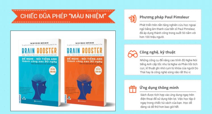 Brain Booster - Là cuốn sách chứa đựng phương pháp học tiếng Anh tốt